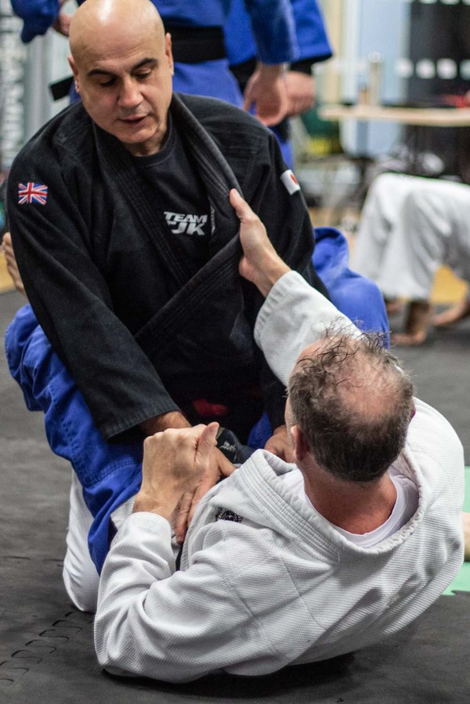 Sensei Andrew Privett and Sensei Ross Iannoccaro Training Self-Defence